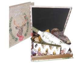 """Caja libro """"Jolly"""" """"Felicitaciones""""/ Turrones, Cava, Espec."""