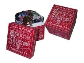 """Cajas Cuad. """" Feliz Navidad""""T023/ Surtido Especialidades"""