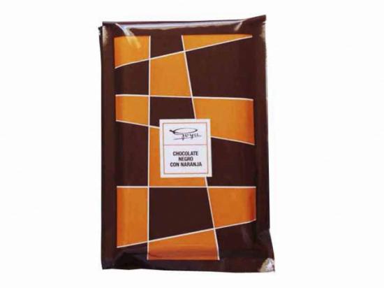 Tableta de Chocolate y Naranja. 100 gramos