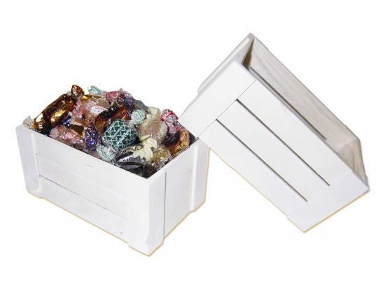 Caja Madera Rectangular/ Surtido de Bombones y Trufas