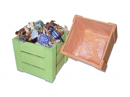 Caja Madera Colores/ 300 gramos de Bombones A013