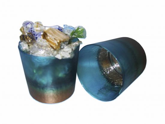 Bote Cristal Turquesa/ Surt de Bombones A038