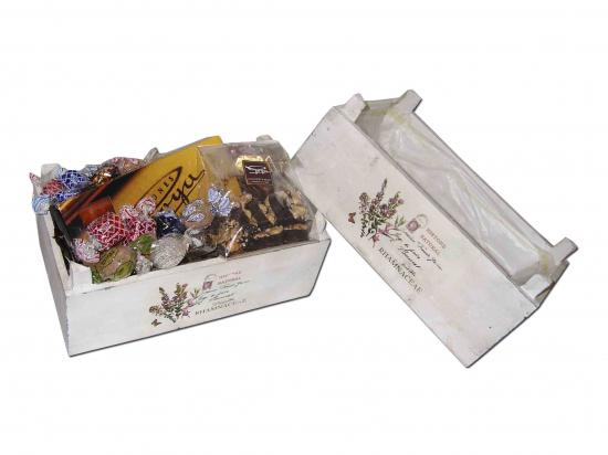 Macetero Mad. Caja Rect. Blanc./ Especialidades Goya