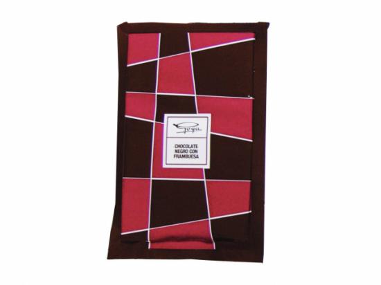 Tableta de Chocolate y Frambuesa. 100 gramos