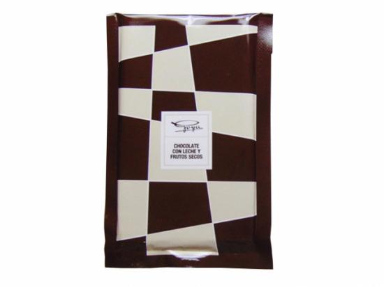 Tableta de Chocolate con Leche y Frutos Secos.